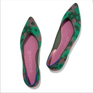 Rothy's The Point in Green Botanicamo Size 8